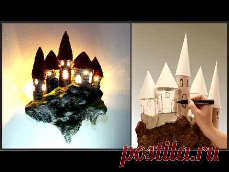 ❣DIY Fantasy Floating Castle Lamp Recycling TRASH❣ - YouTube