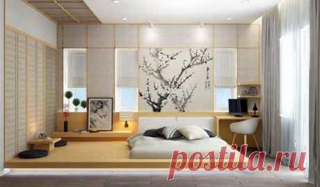 Спальня в японском стиле, хороший способ создать скромную и минималистическую аранжировку ( 5 фото ) | Краше Всех