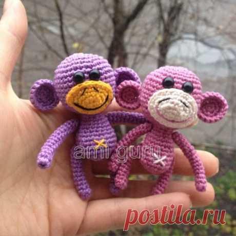 Маленькая вязаная обезьянка крючком — Вязаные игрушки. Амигуруми всех стран, соединяйтесь