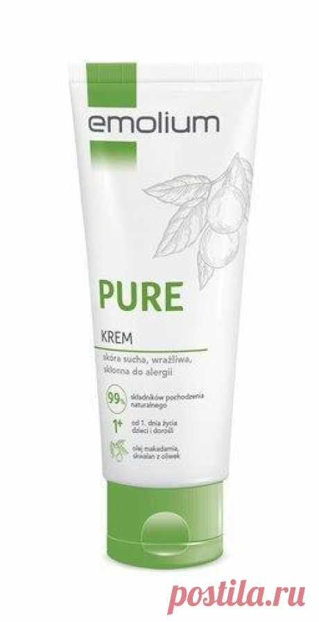 Emolium Pure Cream 75ml A proposal for people who are looking for environmentally friendly cosmetics. Emolium Pure cream UK contains 99% substances of natural origin.