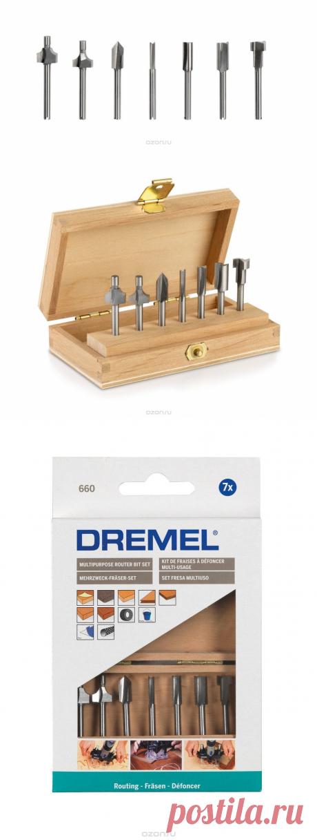 """Набор фрез """"Dremel"""", 7 шт - купить в интернет-магазине по лучшей цене. Ручной инструмент, оборудование и аксессуары с быстрой доставкой от OZON.ru - Выбирайте!"""