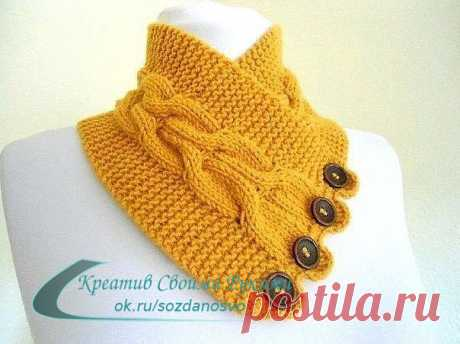 IN THE MONEYBOX OF FANS OF KNITTING. SCARVES. IDEAS FOR CREATIVITY