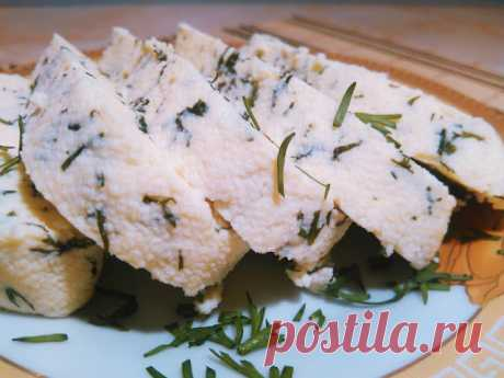 Kitchen-Киев: Домашний Адыгейский сыр с зеленью согласно диете Дюкана