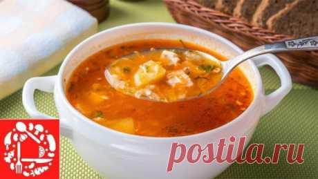 Мой любимый рецепт супа! Простой томатный Суп с Курицей и Рисом