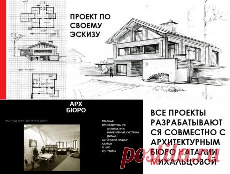 Заказать проект частного дома под ключ по своему эскизу