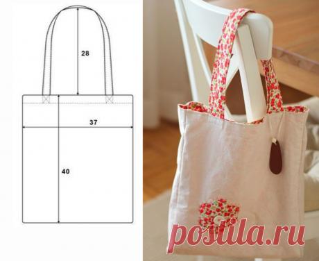 Выкройки сумок для покупок: пакет, шоппер с застежкой, авоська   Самошвейка   Яндекс Дзен
