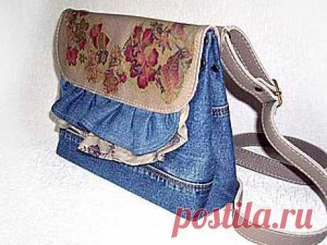 Шьем сумочку из старых джинсов или любой ткани - Ярмарка Мастеров - ручная работа, handmade