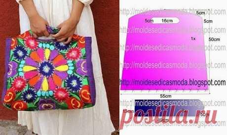 Подборка выкроек летних сумок (Шитье и крой) — Журнал Вдохновение Рукодельницы