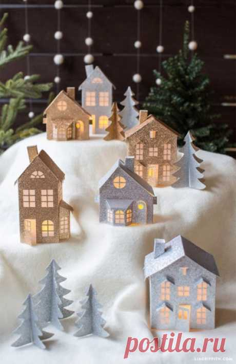 Сказочная рождественская деревня.