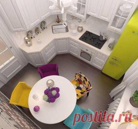 Стильные и практичные варианты оформления небольших кухонь — Квартирный вопрос