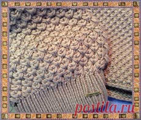 Интересный узор, пригодится как для шапок, так и для свитеров! из категории Интересные идеи – Вязаные идеи, идеи для вязания