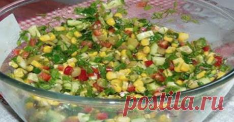 Постный салат быстрого приготовления «Радуга»