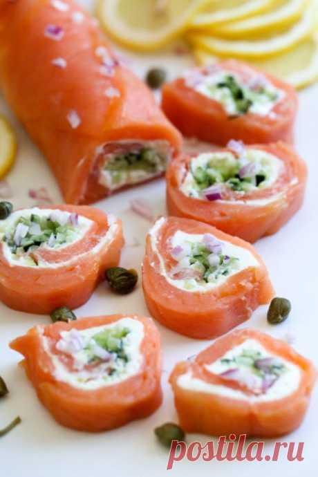 Рецепт кето роллов с лососем (без риса) - БЖУ подсчитаны