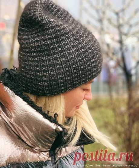 Описание симпатичной шапочки на осень (Вязание спицами) – Журнал Вдохновение Рукодельницы