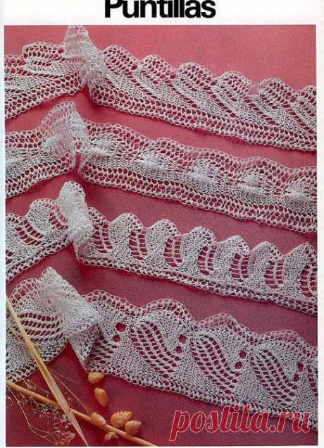 The beautiful openwork border connected by spokes — Needlework