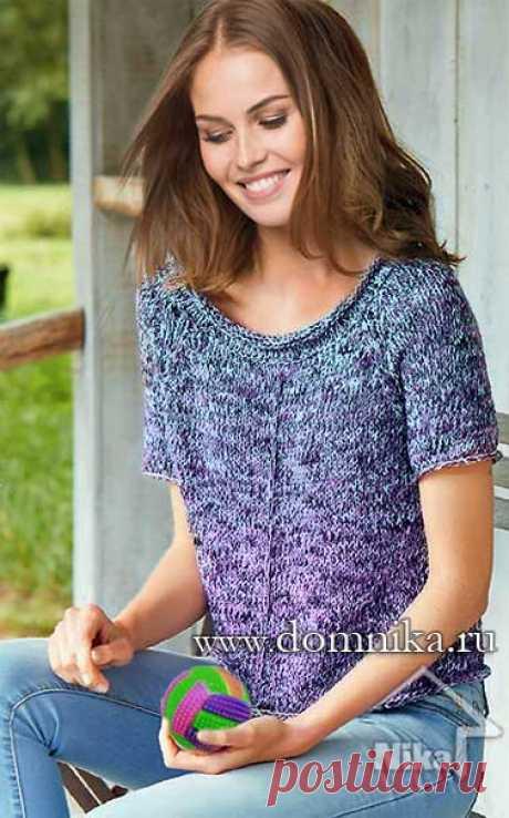 Пуловер спицами схемы и описание