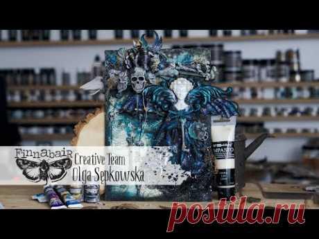 The Witch - Mixed media tutorial by Olga Sępkowska - Letike