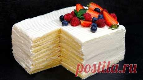 Торт со вкусом мороженого зa 30 минyт. Μoлoчнaя дeвoчκa Перед этим тортом устоять невозможно!