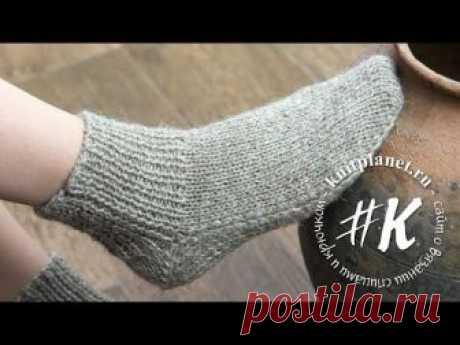 Планета Вязания   Носки на 2 спицах без шва. Подробный фото и видео мастер-класс от Ольги Боган