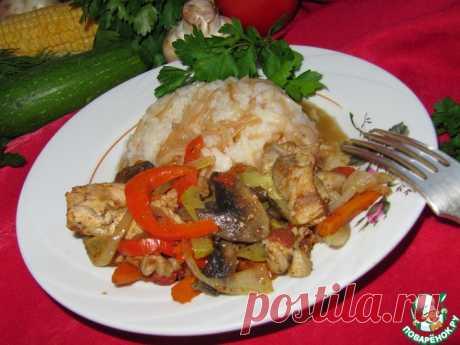 Соте с курицей и грибами ( турецкая кухня) Кулинарный рецепт