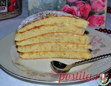 """Быстрый торт на сковороде """"Пушинка"""" - кулинарный рецепт"""