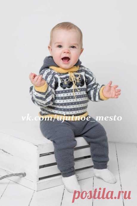 Пуловер с жаккардом для мальчика