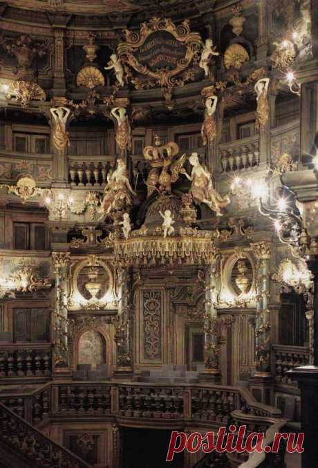 Markgräfliches Opernhaus Bayreuth/The Margravial Opera House in Bayreuth 1744-1748 by Carlo and Giuseppe Galli Bibiena On 30 June 2012 the opera house was inscribed in the UNESCO World Heritage List  |  Pinterest