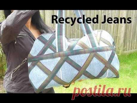 Country Designer Bag / Recycled jeans / DIY Bag Vol 5 - YouTube