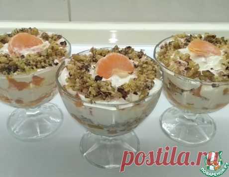 """Десерт слоеный """"Мандариновые облака"""" – кулинарный рецепт"""