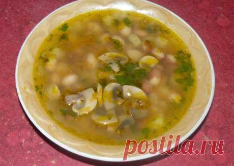 (11) Постный суп с фасолью и грибами - пошаговый рецепт с фото. Автор рецепта виталий еременко . - Cookpad
