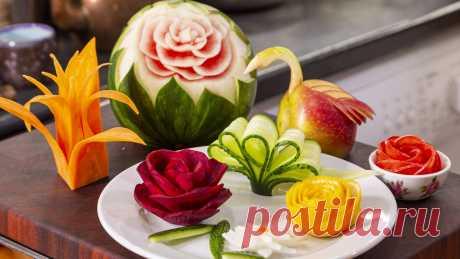 10 Способов Украсить Праздничный Стол. Как красиво нарезать овощи. | Шеф-повар Василий Емельяненко | Яндекс Дзен