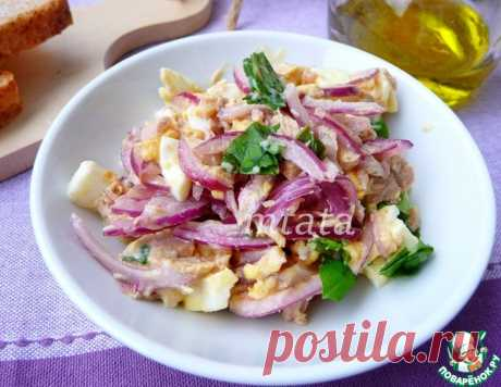 Салат с тунцом и яйцом – кулинарный рецепт