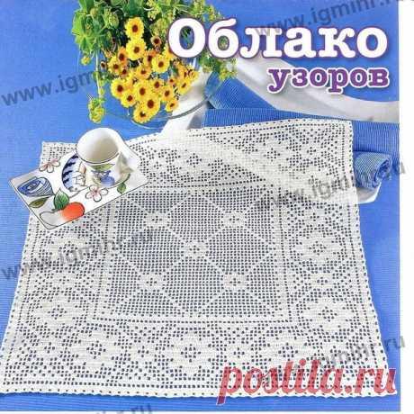 Филейная салфетка крючком #crochet #вязание_крючком #салфетки_крючком