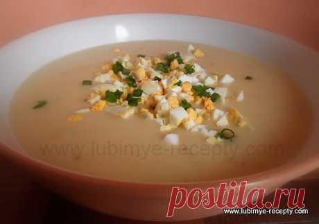 Чешский картофельный суп с яйцами и сметаной   4vkusa.ru