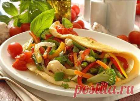 Вегетарианский омлет фаршированный овощами | Женский интернет-портал | Все для женщины