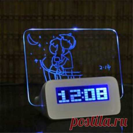 Настольный будильник с люминисцентным табло для записей и сообщений   shopperali.ru Обзоры товаров и отзывы. Хороший Алиэкспресс.