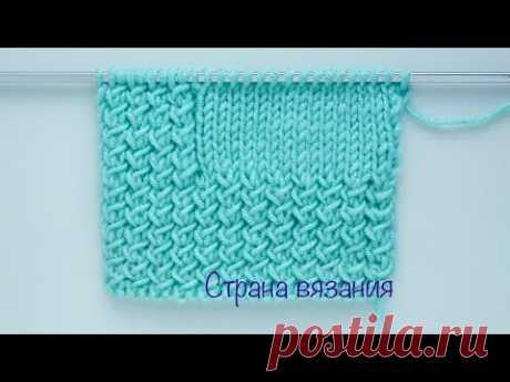 Узоры спицами. Плотный узор с косыми петлями. Knitting patterns. Crisp stitch pattern.