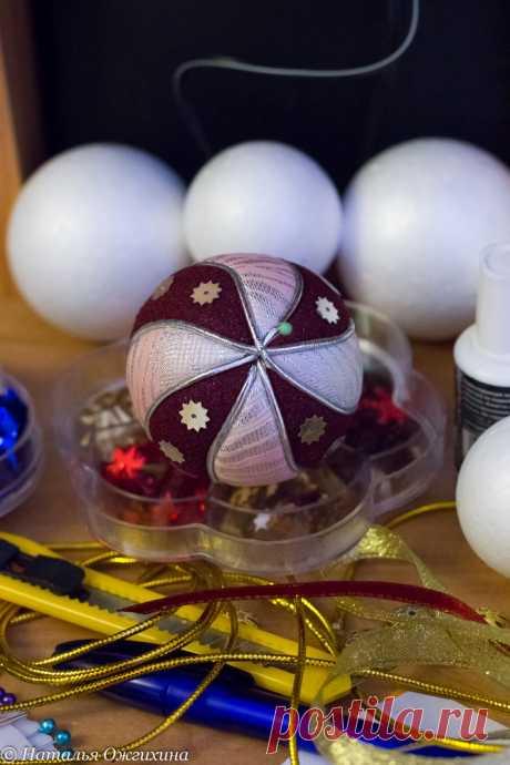 Изготавливаем новогодние текстильные шары – Ярмарка Мастеров