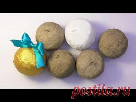 DIY How to make a basis for Christmas balls to a papya to Masha. Master class. Basis for Christmas-tree balls