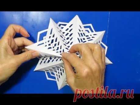 Делаем Плетенную Снежинку ИЗ Бумаги за 10 минут Посмотри и Сделай Новогодние поделки из бумаги DIY