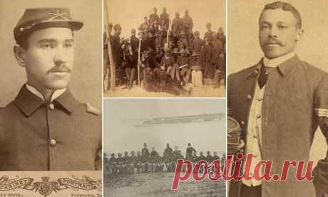 """Исторические фото """"Солдат Буффало"""", первых афроамериканцев-участников войны (17 фото)   Чёрт побери """"Солдатами Буффало"""" неформально называли военнослужащих 10-го кавалерийского полка американской армии, сформированного в 1866 году - полк целиком состоял из солдат-афроамериканцев. Доблесть чернокожих солдат в годы Гражданской войны проложила путь к полноправному участию афроамериканцев в последующих военных действиях, в том числе Первой и Второй мировой войне. Прозвище """"Сол..."""
