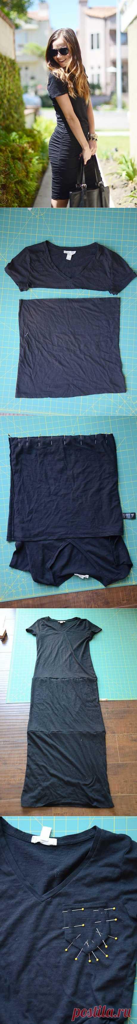 Платье из футболок (Diy) / Футболки DIY /