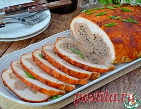Курица со свининой, грибами и фасолью – кулинарный рецепт