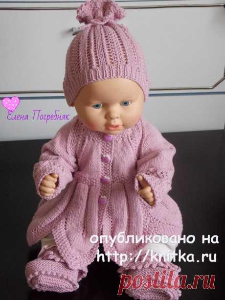 Комплект для новорожденных. Работа Елены Погребняк, Вязание для детей