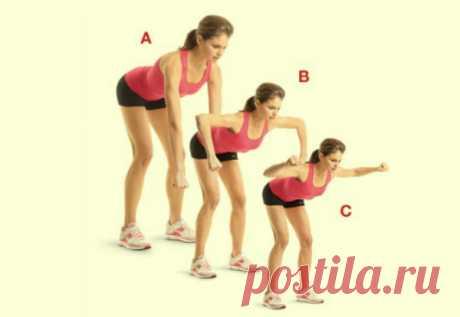 Убери складки на спине и боках при помощи 4 простых упражнений: красивый изгиб уже за 3 недели.