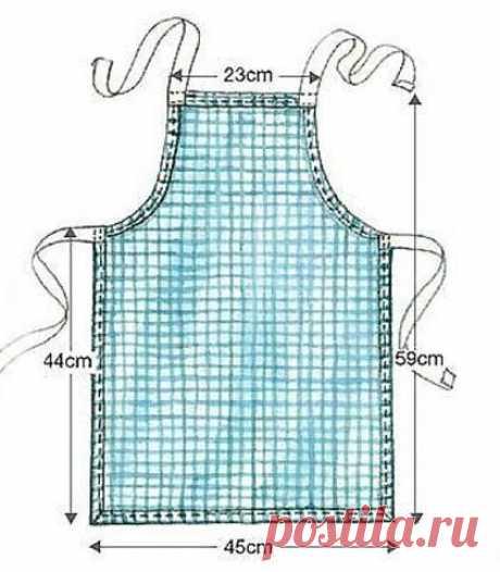 Шьем фартук - незаменимую вещь для хозяйки