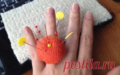 Необычная игольница-перстень своими руками — Мастер-классы на BurdaStyle.ru