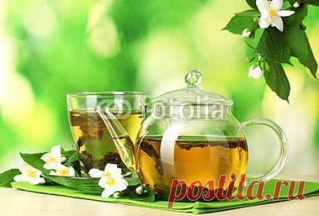Зеленый чай с жасмином — Постеры на стену