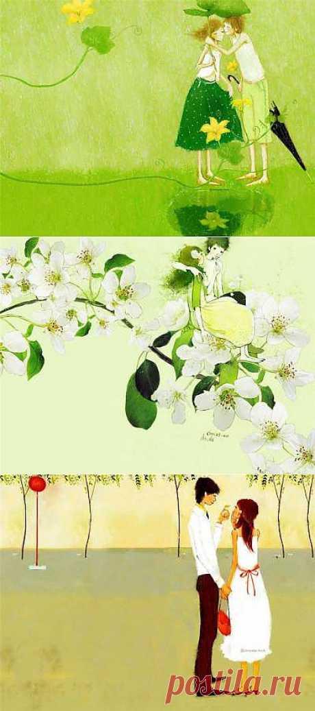 Первая любовь. Рисунки Christian Asuh - Галерея искусств - Для души - Статьи - Школа радости