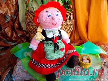 Вязаная игрушка Красная Шапочка – HandMade39.ru Вязаная игрушка Красная Шапочка - мастер-класс. Вязаные герои сказок описание. Как связать куклу спицами. Вязаные игрушки авторская работа заказать, купить.